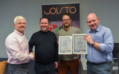 Joisto Group Oy has achieved ISO 9001:2015 and 27001:2013
